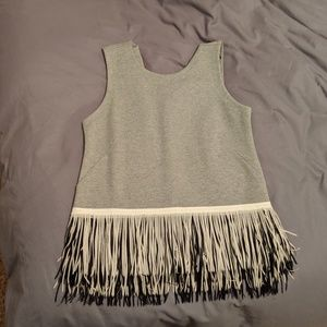 JCrew Fringe Shirt! Size S perfect condition!!
